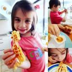Who wants wafflesforlunch ? They do!! childmade childtested yummy waffleshellip