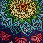 Just finished this mandala  Went for the rainbow themehellip